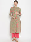 Maternity & Nursing High Collar Neckline Kurta