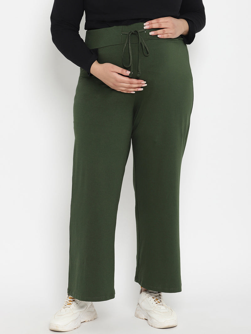 Plus Size Stretchy Cotton Maternity Pajama Pants
