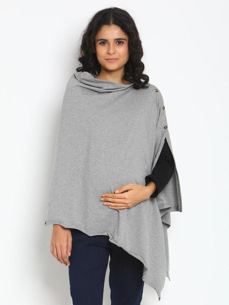 Buttoned Breastfeeding Cover- Poncho Style