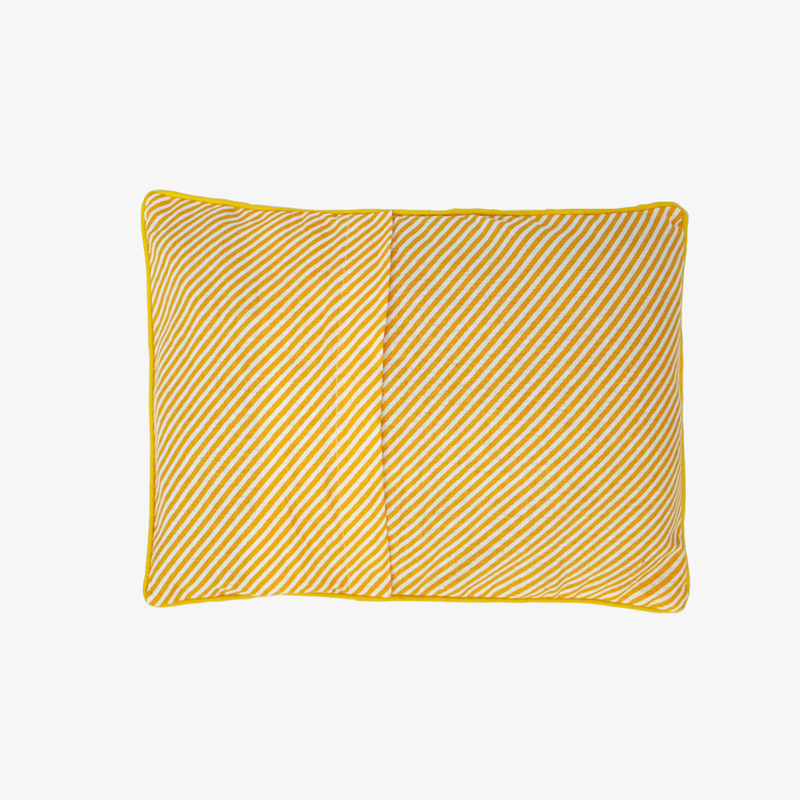 Baby Mustard Seeds Head Pillow Stripped - Yellow