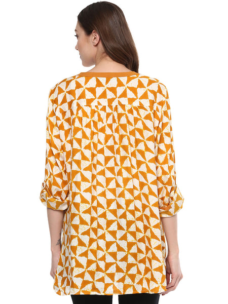 Maternity Top Abstract Yellow