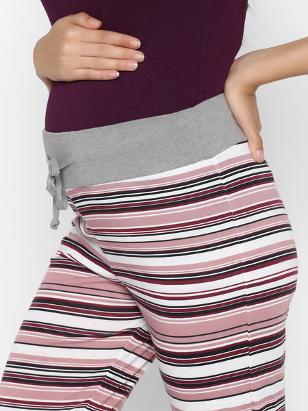 Comfy Relax Maternity Pajama Pants with Drawstring