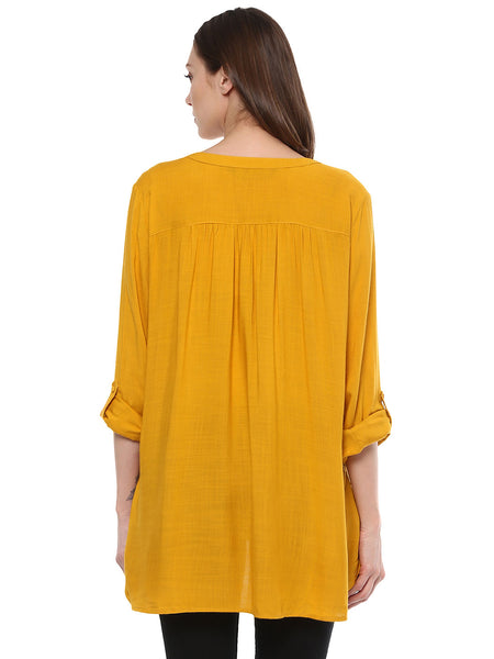 Maternity Top Solid Yellow