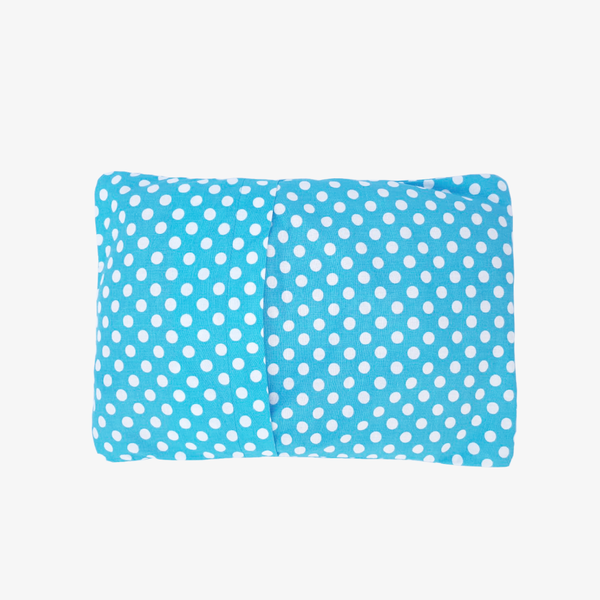 Baby Mustard Seeds Head Pillow Polka Dots - Sky Blue