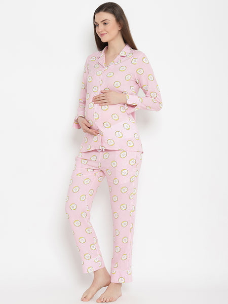 2-pc. Classic Maternity & Nursing Pajama Set