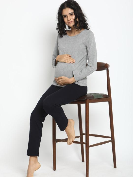 Maternity Comfy Casual Pants- Winter Weight French Terry