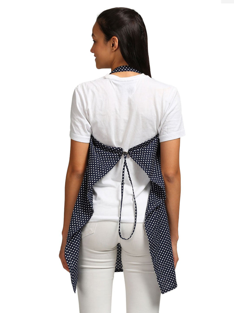 Nursing Cover Polka Dots Cotton Blue