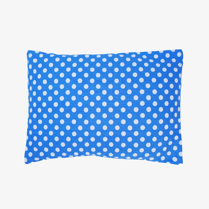 Baby Mustard Seeds Head Pillow Polka Dots - Blue