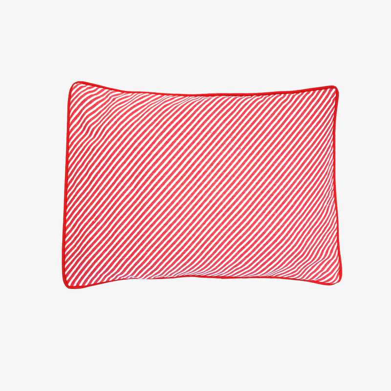 Mustard Seeds Head Pillow Stripped - Red