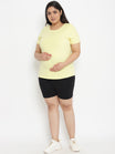 Maternity Plus Size Anti-Chafing Cotton Shorts