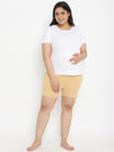 Plus Size Maternity Over Belly Shorts