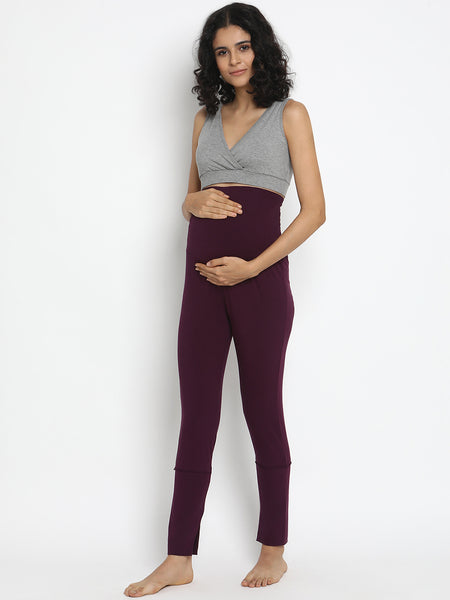 Hi-rise Maternity Leggings- Winter Weight French Terry