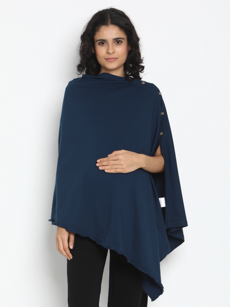 Cotton Knitted Maternity/Feeding  Poncho