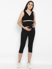 Maternity Over Belly Capri