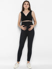 Maternity Over Belly Seamless Leggings