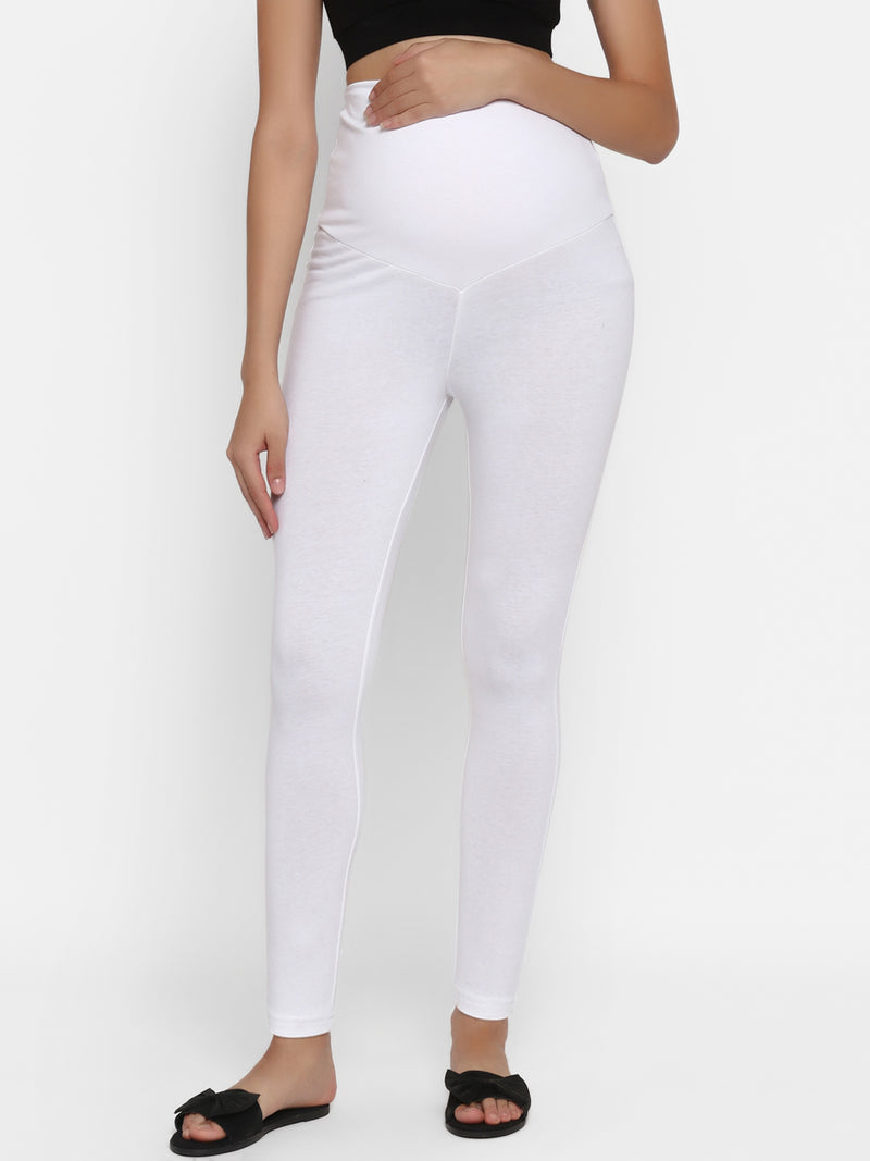 High Rise Colored Maternity Leggings