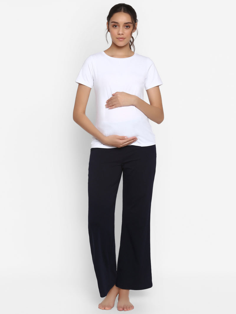 2-Piece Maternity Tee & Wide-Leg Pajama Set