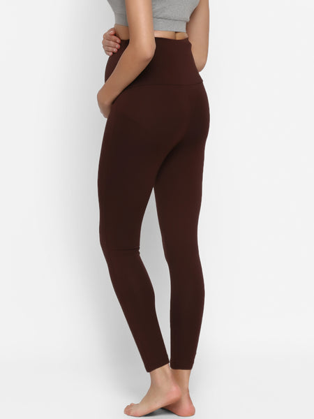 High Waisted Maternity Cotton Leggings