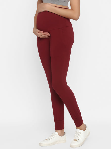 Comfy High-waist Maternity Jogger Pants