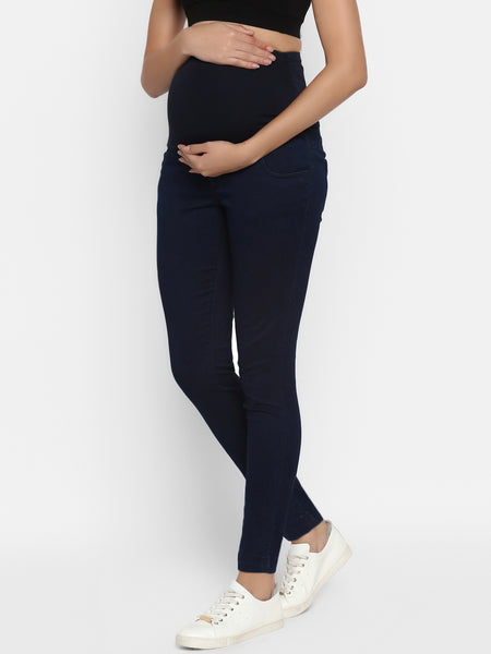 Slim Straight High-Rise Maternity Jeans- Blue