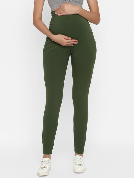 Cotton Maternity Sweatpants With Pockets