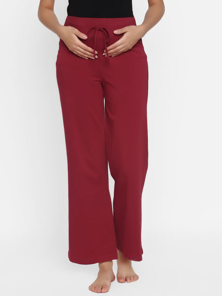 Adjustable Drawstring Maternity Pajama Pants