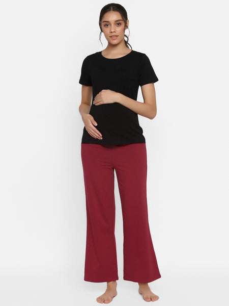2-Piece Maternity Tee & Demi Panel Pant Set