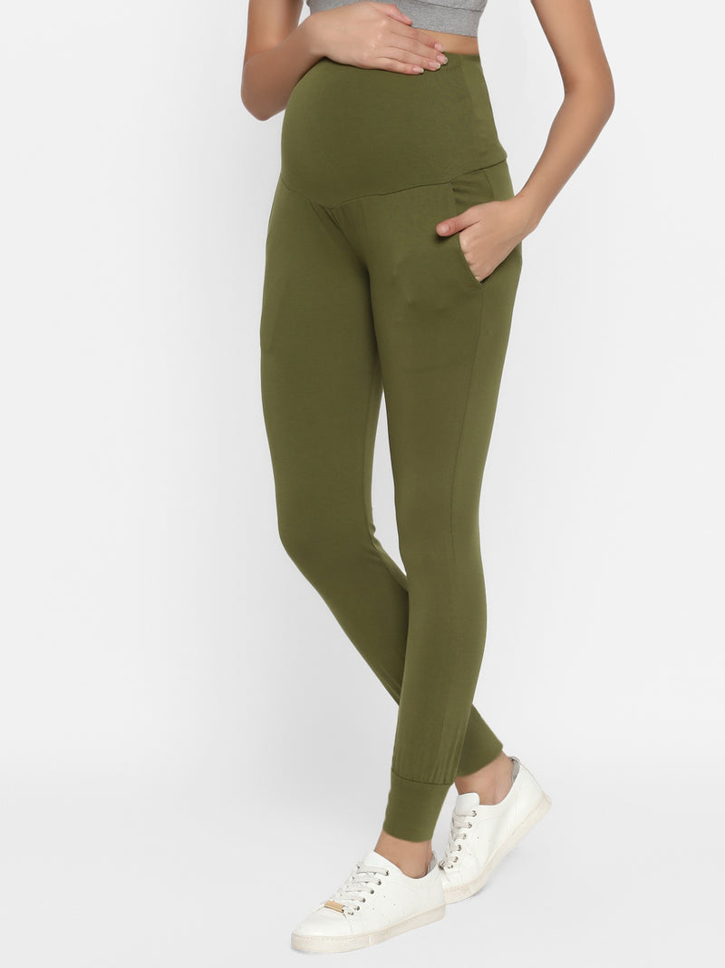 Cotton Maternity Athletic Casual Pants