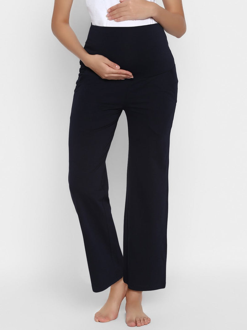 High-waist Comfy Maternity Lounge Pants