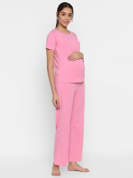 Maternity Sleepwear 2-Piece Tee & Pajama Set