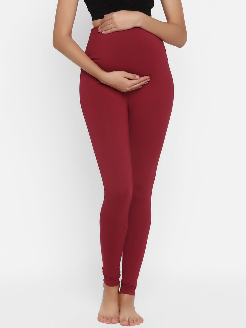 Maternity Churidar Leggings- French Terry