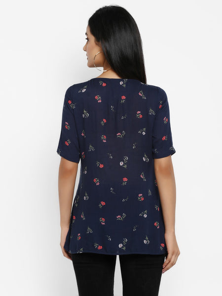 Floral Button Front Maternity/ Nursing Top