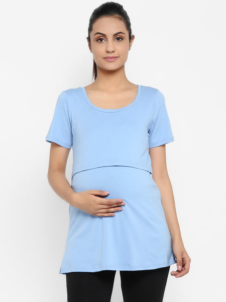 Maternity Half Sleeves Nursing T-shirt