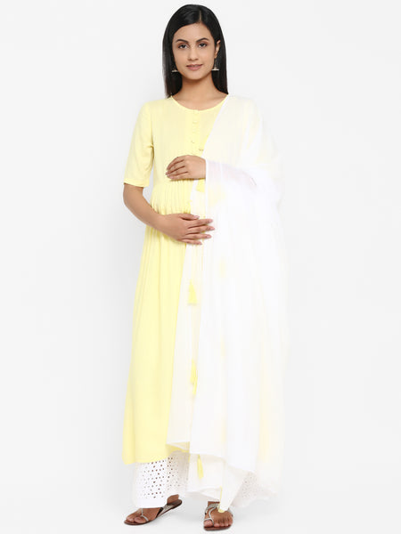 Maternity Kurta with Scarf