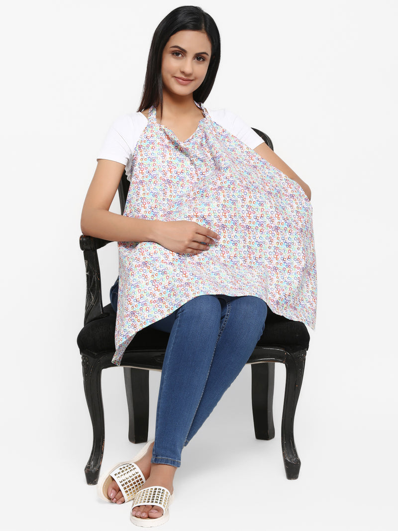 Multicolor Nursing Cover