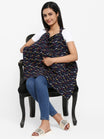 Printed Nursing Cover - Blue