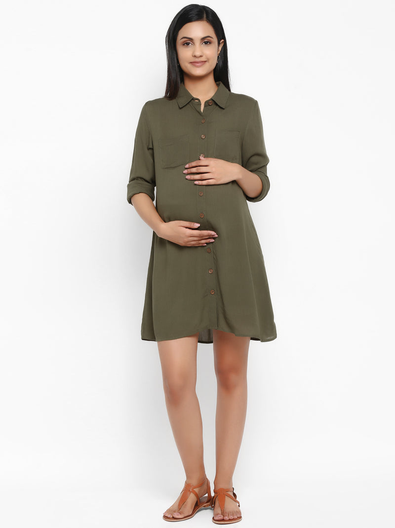 Maternity Solid Dress