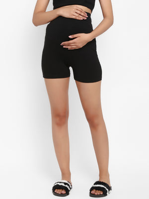 Maternity Over Belly Shorts