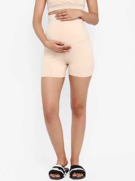 Pack of 2 Maternity Over Belly Shorts