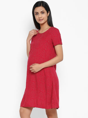 Maternity Polka Dots Dress