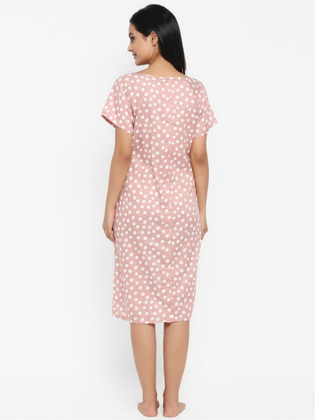 Polka Dots Maternity & Nursing Hospital Gown