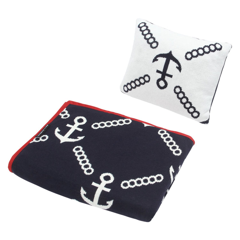 Baby Blanket Anchor Print with Pillow