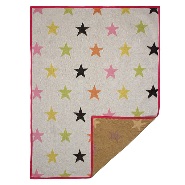 Baby Blanket with Pillow and Toy Multi-color Star Print