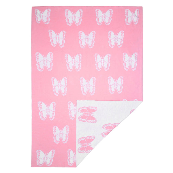 Baby Blanket Butterfly Pink