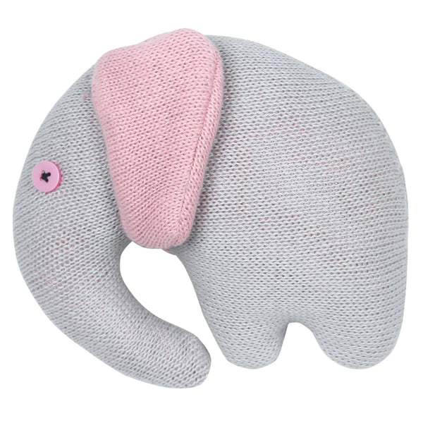 Baby Blanket with Pillow and Baby Elephant Soft Grey & Pink Box