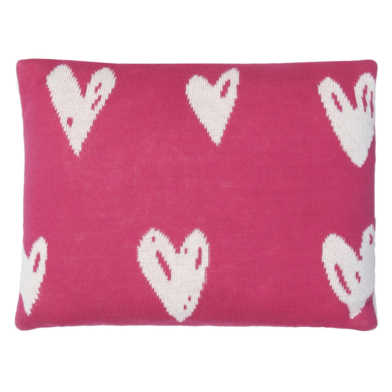 Baby Blanket with Pillow Heart Print Pink