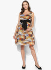 Maternity Dress Abstract Print with Waist Tie