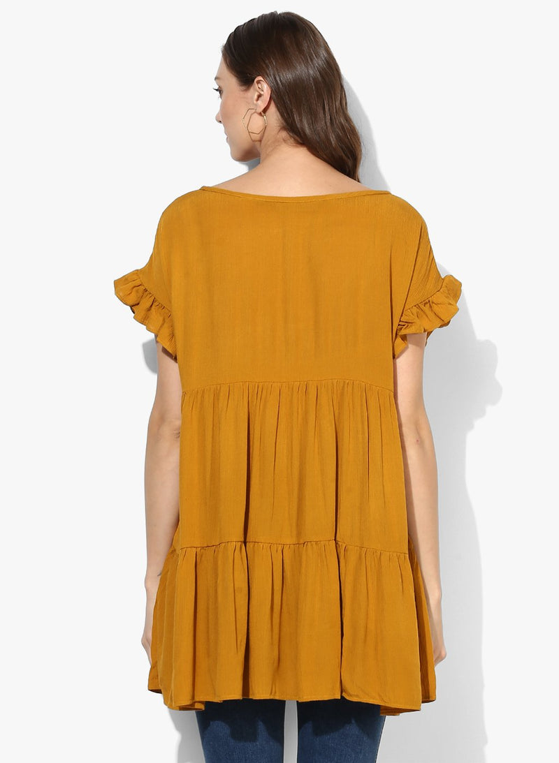 Maternity Top Solid Mustard