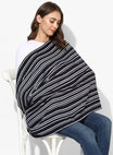 Nursing Scarf Blue & White Stripes Rayon