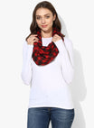 Nursing Scarf Red & Black Checks Cotton